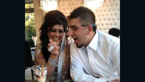 Slain Briton Samia Shahid and her second husband, Syed Mukhtar Kazam.