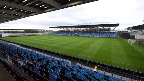 """The Academy Stadium is predominantly used by the Elite Development squad and Manchester City Women. """"I like to think of us as pioneers ... not just in England, but globally,"""" says Man City and England Ladies midfielder Izzy Christiansen."""