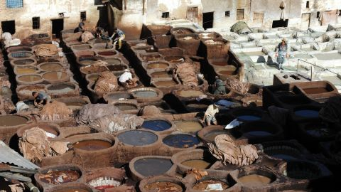"""Jubber worked in the tanneries of Fez at the start of his adventure. """"As organically decrepit as Heironymous Bosch's hell, the Ain Azeltoun tannery may well be the stinkiest place in the whole of Fez,"""" he said when recording the experience."""
