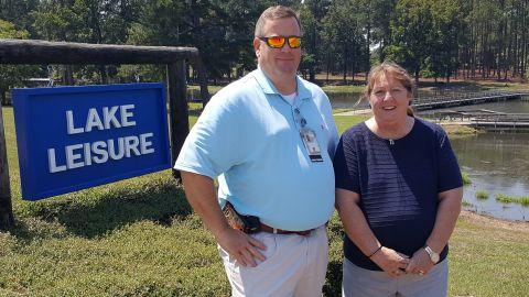 Greg Senters, VA social worker, and Dr. Carol A. Rueter, RN, Hospice Care Unit Nurse Manager
