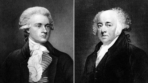 Republican President Thomas Jefferson and his predecessor, Federalist President John Adams