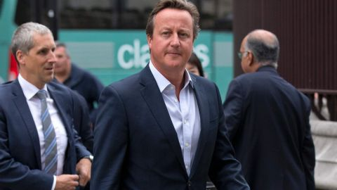 Former British Prime Minister David Cameron arrives at the Houses of Parliament in London on September 5, 2016.
