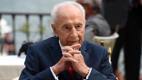 """Former President of Israel Shimon Peres attends the Ambrosetti International Forum on September 2, 2016, in Cernobbio, Italy.  """"There's no corner of this country that he hasn't touched,"""" Zionist Union Chairman Isaac Herzog said of the elderly statesman. """"The greatness of Shimon Peres is that he is beyond age. Everywhere he goes around the world, people listen to him."""""""