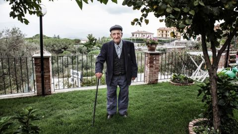"""Vincenzo Baratta, 103, who also lives in Acciaroli, said there are two secrets to his long life. One is his diet; the farmer eats only once a day and avoids meat. He eats some fish and homemade pasta and has only one glass of wine per day. His other key: having """"a lot of women in his life."""" A neighbor said he has gone through several caregivers because he made so many passes at them."""