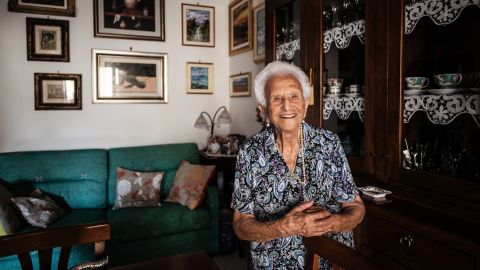 """Italian Luigina Vigiconte, 101, offered this advice: """"Always be optimistic, never bitter, and always be polite with people."""" Vigiconte, who has eight sons, lives in Acciaroli, south of Naples, where one in 10 people is a centenarian. Scientists who have studied the area say the Mediterranean diet, genetics, regular exercise and the climate contribute to the longevity of the population."""