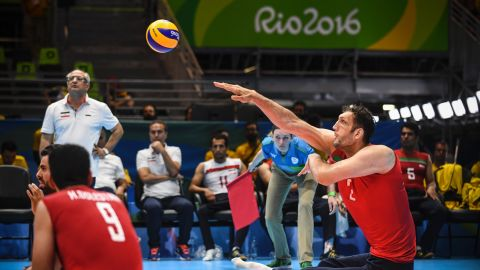 """Having only joined the national team in March, Mehrzad is being trained """"step by step"""", Iranian coach Hadi Rezaeigarkani told <a href=""""https://www.rio2016.com/en/paralympics/news/iranian-sitting-volleyball-giant-towers-over-opposition-Rio-2016"""" target=""""_blank"""" target=""""_blank"""">Rio2016.com</a>."""