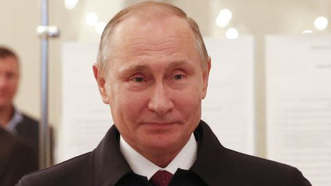 Russian President Vladimir Putin visits a polling station during parliamentary elections in Moscow on September 18, 2016. / AFP / POOL / GRIGORY DUKOR        (Photo credit should read GRIGORY DUKOR/AFP/Getty Images)