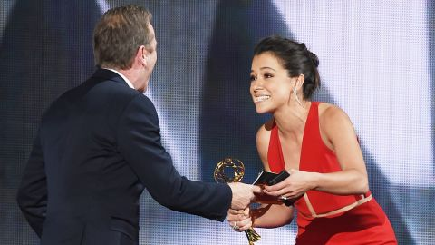 """Tatiana Maslany accepts Outstanding Lead Actress in a Drama Series for """"Orphan Black."""""""