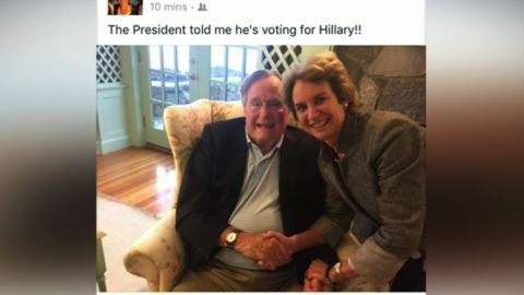 George HW Bush Clinton vote facebook post