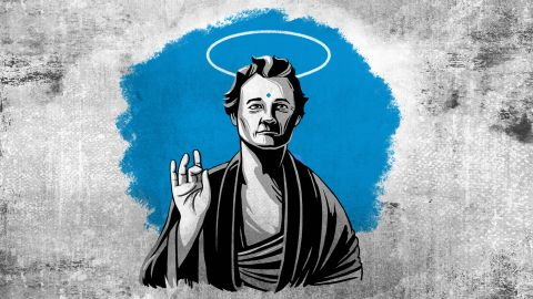 """Murray is not just a very funny actor; he's an icon who represents, onscreen and off, the longing for a more engaged and awakened life. <a href=""""http://www.cnn.com/2016/09/21/health/bill-murray-buddhist-wisdom-project/index.html"""">Read here. </a>"""