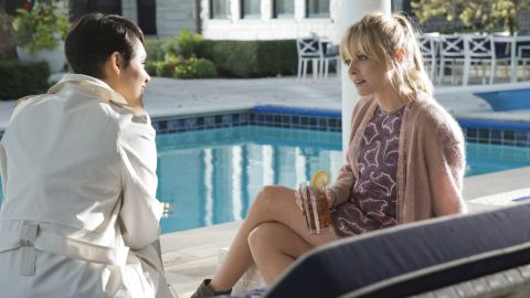 """Anika (Grace Gealey), left, and Rhonda (Kaitlin Doubleday) ended season 2 of """"Empire"""" with a fight on a balcony which ended with one of them falling off. The season 3 premiere revealed it was Rhonda who fell to her death."""