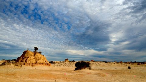 """Willandra Lakes where the oldest Australian """"Mungo Man"""" was found (43,500 years old)."""
