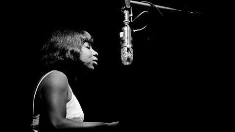 Nina Simone sings at Newport in 1963.