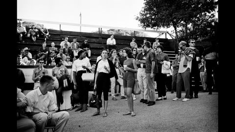 Festivalgoers at the Monterey Jazz Festival in 1960.
