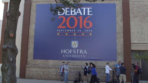 Exterior of Hofstra Debate Hall
