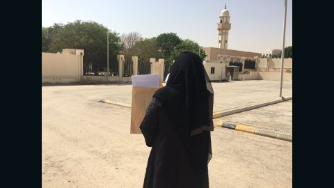 Activist Aziza Al-Yousef brings a petition opposing male guardianship system to the Royal Court in Riyadh
