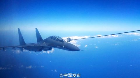 Japan scrambled a fighter jet as 8 Chinese planes flew over the Miyako Strait.