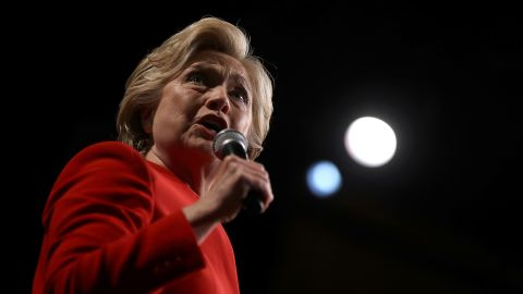 WESTBURY, NY - SEPTEMBER 26:  Democratic presidential nominee Hillary Clinton speaks during a debate-watch party at The Space at Westbury on September 26, 2016 in Westbury, New York. Tonight was the first of four debates for the 2016 election - three presidential and one vice presidential.  (Photo by Justin Sullivan/Getty Images)