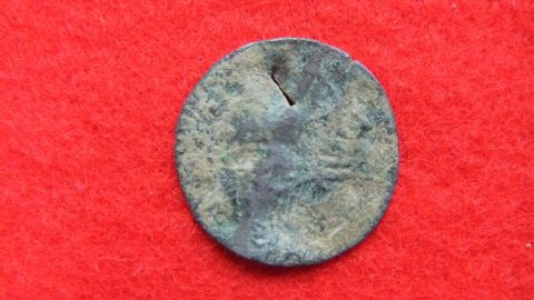 """""""I couldn't believe they'd found coins from the Roman empire in Kasturen castle,"""" archiologist Hiroyuki Miyagi, from Okinawa International University, told CNN. This is the front of one of the Ottoman coins."""