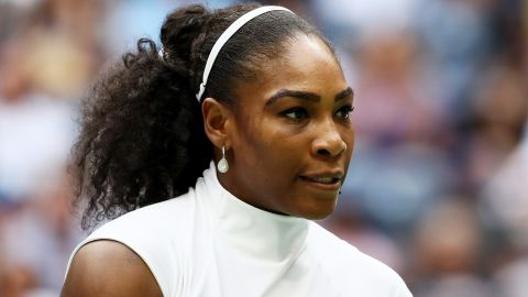 NEW YORK, NY - SEPTEMBER 05:  Serena Williams of the United States looks on against Yaroslava Shvedova of Kazakhstan during her fourth round Women's Singles match on Day Eight of the 2016 US Open at the USTA Billie Jean King National Tennis Center on September 5, 2016 in the Flushing neighborhood of the Queens borough of New York City.  (Photo by Al Bello/Getty Images)