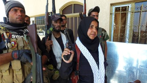 Wahida Mohamed seen here in Shirqat, Iraq on Sept. 27, 2016.