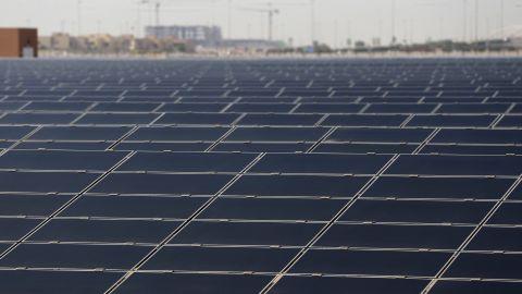 The 10-megawatt solar farm on the outskirts of Masdar City provides much its energy needs.