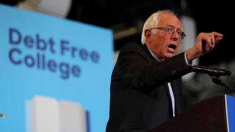 U.S. Sen. Bernie Sanders (I-VT) speaks during a campaign rally with democratic presidential nominee former Secretary of State Hillary Clinton at University of New Hampshire on September 28, 2016 in Durham, New Hampshire.