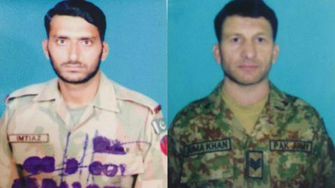 Killed Pakistani soldiers, Naik Imtiaz (L) and Havildar Jumma Khan (R).