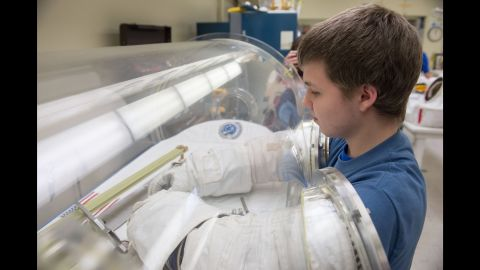 Because of his love for engineering and inspiration from the Space Suit Project, Jacob wants to work on rovers and robotics for NASA.