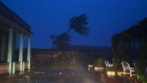 The high winds of Hurricane Matthew roar over Baracoa on Tuesday, October 4.