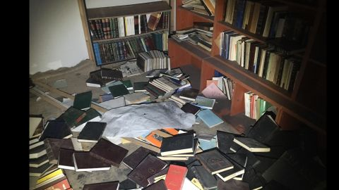 CNN's Fred Pleitgen found the remains of the library in Darayya