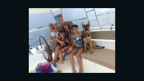 Rosa Linda Román, her husband and their three children had to evacuate their home, a boat, because of Hurricane Matthew.