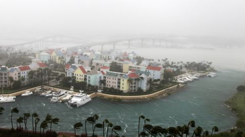 Hurricane Matthew moves through Paradise Island in Nassau, Bahamas, on October 6. Capt. Stephen Russell, the head of the Bahamas National Emergency Management Authority, said there were many downed trees and power lines but no reports of casualties.