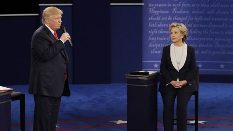 """At the beginning of the debate, Trump apologized for lewd remarks he made <a href=""""http://www.cnn.com/2016/10/07/politics/donald-trump-women-vulgar/index.html"""" target=""""_blank"""">during a 2005 video</a> that surfaced last week. He called it """"locker room talk"""" before pivoting to terrorism and """"bad things happening"""" in the world."""