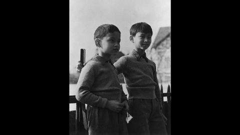 Bhumibol, left, is pictured in 1935 with his older brother, the former King Ananda Mahidol, in Lausanne, Switzerland, where the boys attended school. King Ananda was 20 when he died of a gunshot wound under mysterious circumstances. His 18-year-old brother, known then as Prince Phumiphon Aduldet, later assumed the throne to become King Bhumibol Adulyadej.