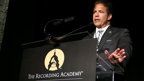Rep. Mike Bishop (R-MI) speaks at the GRAMMYs on The Hill Dinner at The Hamilton on April 13, 2016 in Washington, DC.