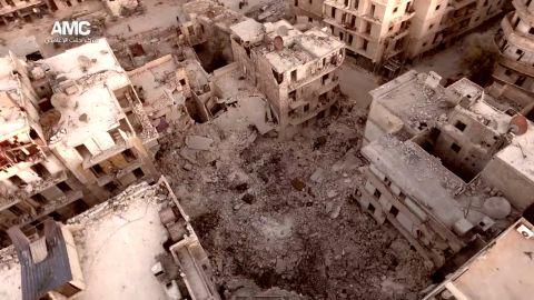 Aleppo aerial video