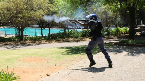 Protest leaders and professors have complained the police presence has militarized campuses throughout South Africa.