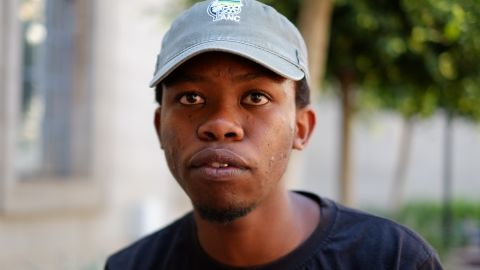 Law student Mpendulo Mfeka is the first in his family to attend college.