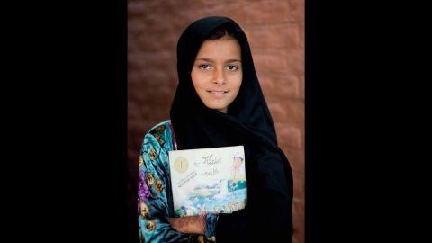 Sameena, age six, from Peshawar, Pakistan.