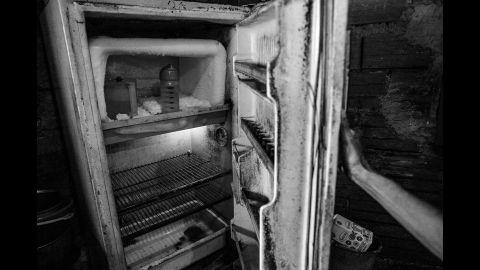 An empty fridge in Caracas.