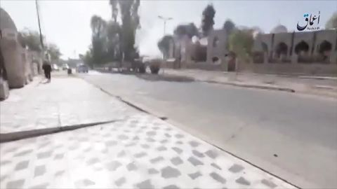 Inside Mosul, the streets are eerily deserted of people.