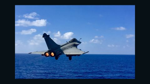 """""""The Rafales have got lots of different sensors that allow us to be precise when we drop weapons on enemies,"""" said Commander Marc."""