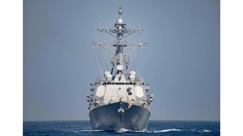 (FILES) This file photo taken on April 08, 2016 shows a US Navy handout photo displaying the Arleigh Burke Class guided-missile destroyer USS Nitze (DDG 94) operating in the Mediterranean Sea.  The United States on October 13, 2016 bombed three radar sites controlled by Huthi rebels in Yemen, the first direct US strike against the group following missile attacks against US warships last week, the Pentagon said. The strikes in Huthi-controlled territory on Yemen's Red Sea coast, authorized by President Barack Obama, were conducted with Tomahawk cruise missiles fired by the destroyer USS Nitze, a US official said.   / AFP PHOTO / Navy Media Content Operations (NMCO) / MC3 J. Alexander DELGADO MC3 J. ALEXANDER DELGADO/AFP/Getty Images