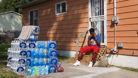 Some flint residents are still forced to use either filtered or bottled water because of damaged water pipes.
