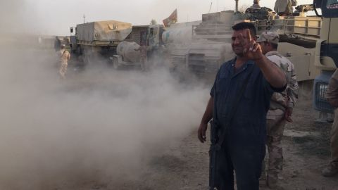 """""""Next stop, Mosul,"""" says Sgt. Muhanned Hameed, a technician in the 9th Iraqi armored division."""