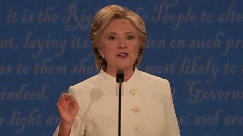 Hillary Clinton debate 01