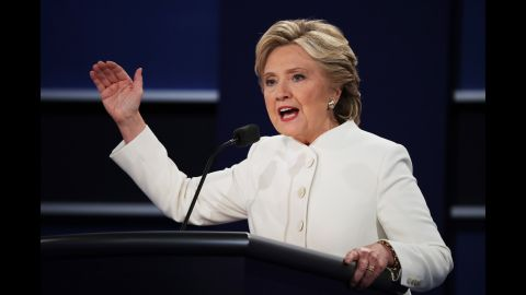 """According to MJ Lee, CNN national politics reporter, Clinton's <a href=""""http://www.cnn.com/2016/10/19/politics/presidential-debate-what-to-watch/index.html"""" target=""""_blank"""">major challenge entering the debate</a> was not so different from the challenge she's confronted over the past few months: presenting the country with a positive vision for her presidency that is detached from her argument against Trump."""