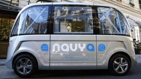 Self-driving buses are outstripping cars to date, with the French-made Navya autonomous electric vehicle already operating in Paris.