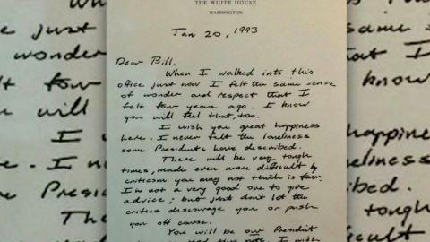 george hw bush bill clinton letter